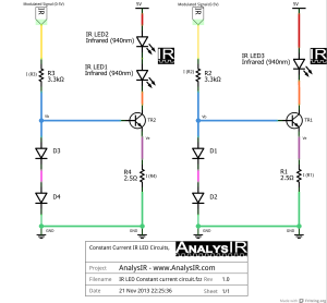 Constant current IR LED circuit