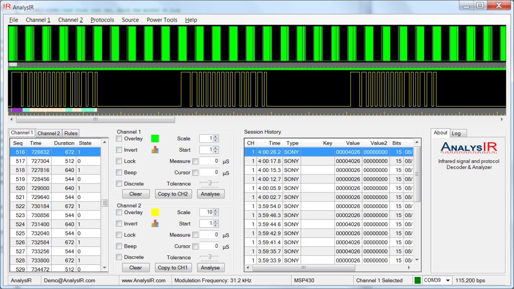 AnalysIR Screenshot