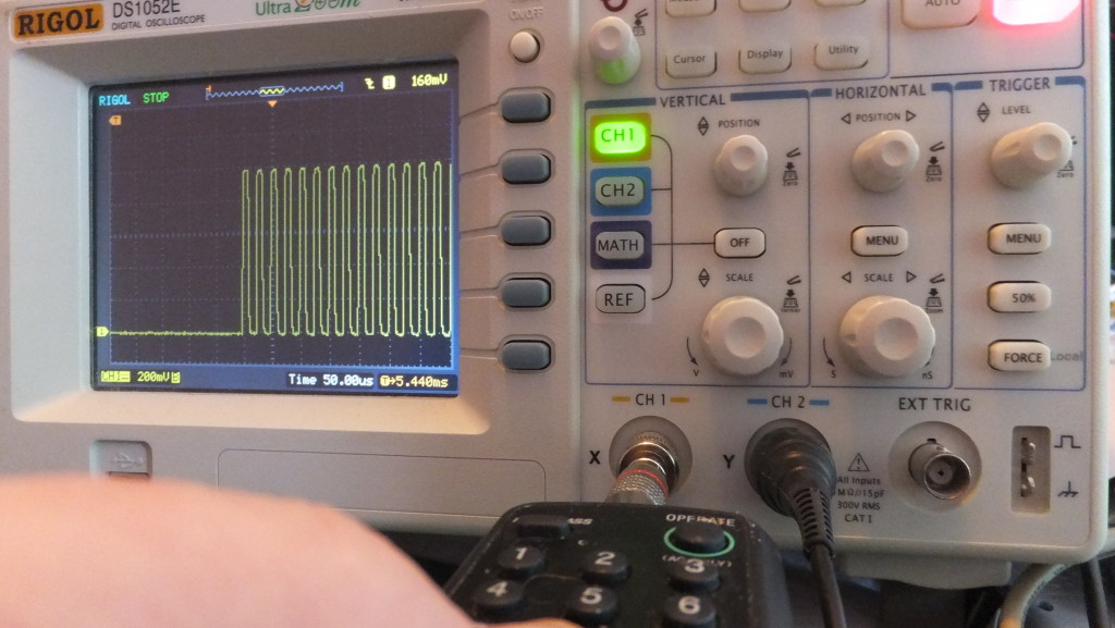 Get accurate measurement of modulation frequency & duty cycle.