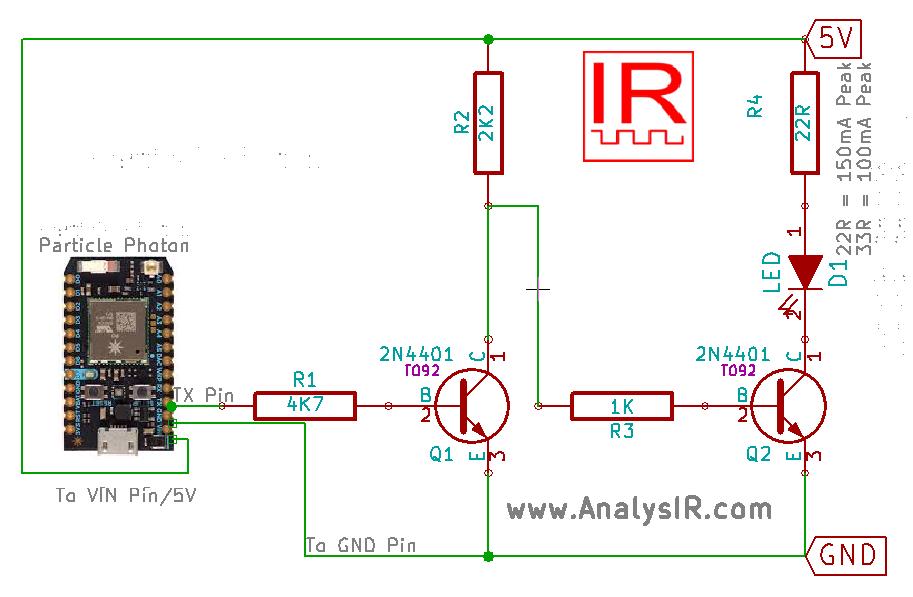 uPWM Circuit diagram for Photon
