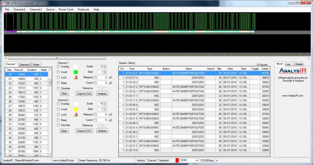 ESP8266 NodeMCU uPWM AnalysIR Screenshot