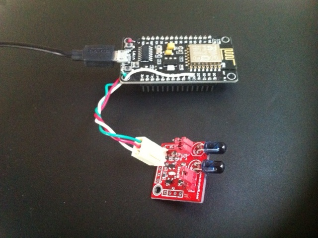 Esp8266 NodeMCU and MakeIR SendIR module from AnalysIR