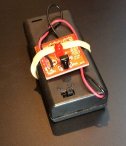 DetectIR configured as Tester with Battery Pack (not included)