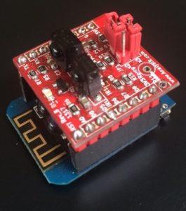 A.IR Shield ESP8266 TRx Wemos D1 Mini Portrait
