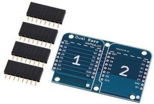 WemosD1 Mini DoubleShield Base with headers