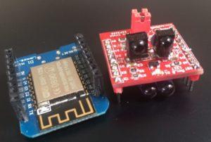 A.IR Shield ESP8266 TRx Wemos D1 Mini sidebyside