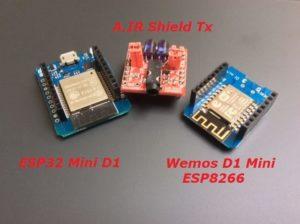 A.IR Shield ESP8266/ESP32 Tx for AnalysIR with modules
