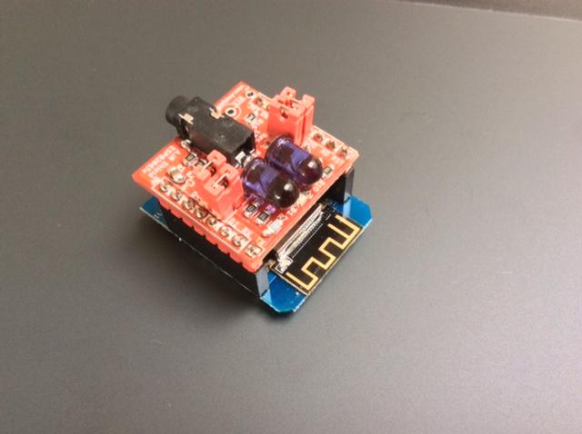 A IR Shield ESP8266/ESP32 Tx, advanced infrared module
