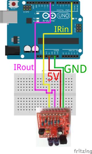 DIYIR Wiring Arduino UNO